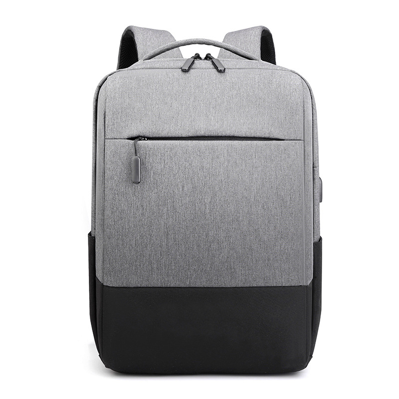Backpack men's USB rechargeable backpack 15.6 inch computer bag business backpack water repellent c