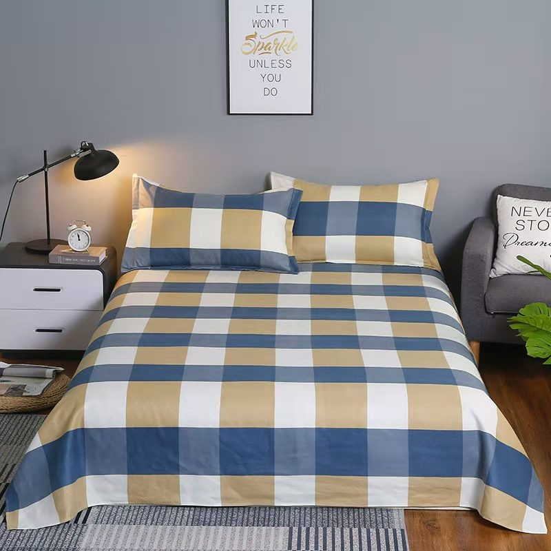 YIXIN Brushed bed linen, wholesale household single-piece bed linen, student dormitory bed linen