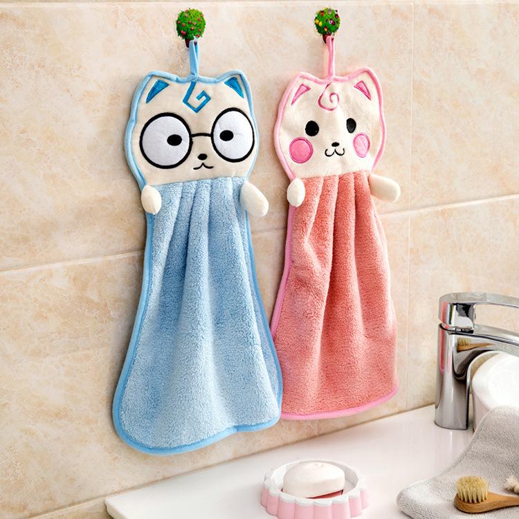 HANSHUN Fangjia Home Thicken Hanging Hand Wipes Super Absorbent Cartoon Cute Dish Towel Wipes
