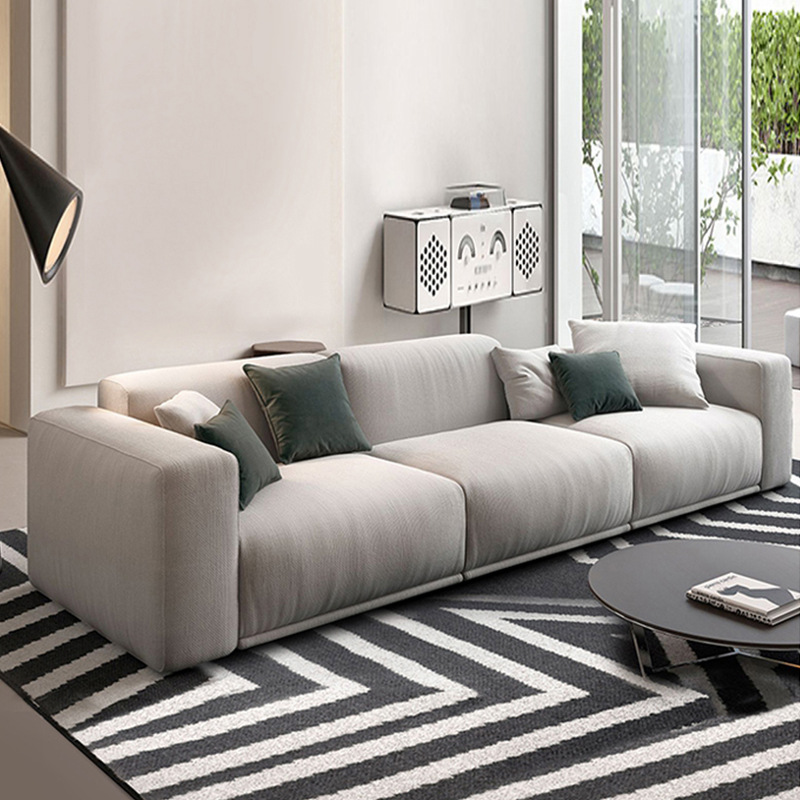 LICHENGJU Postmodern Nordic simple multi-person three-person corner sofa model room small apartment