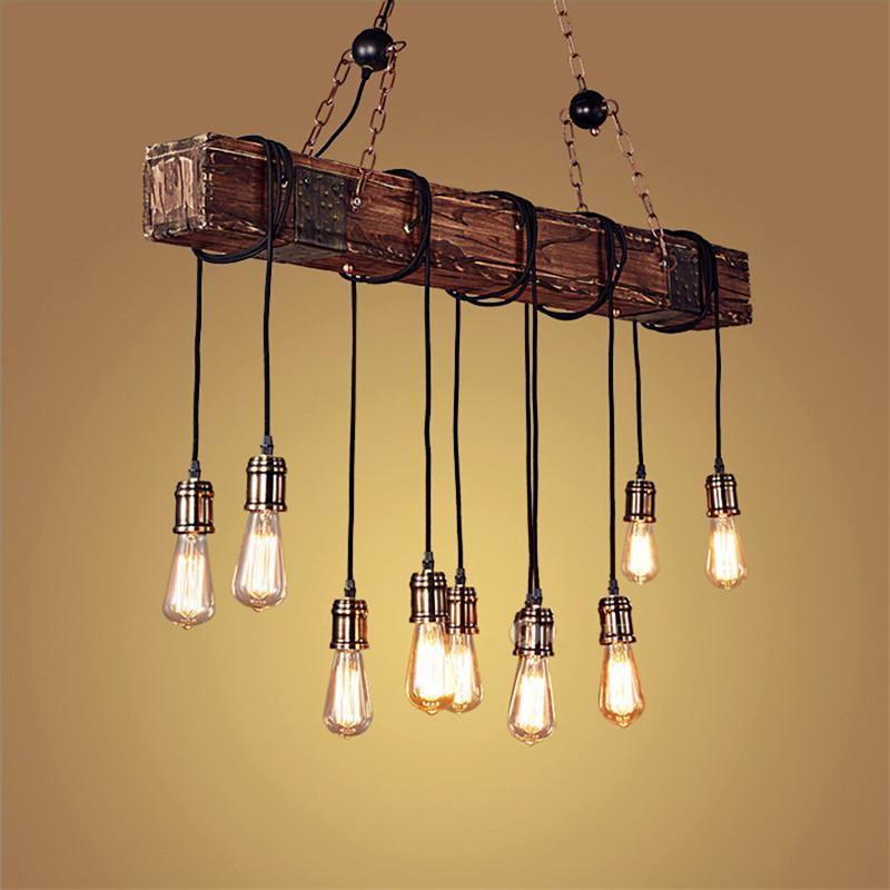 American retro boat wooden chandelier restaurant cafe creative bar restaurant bar personality wood c
