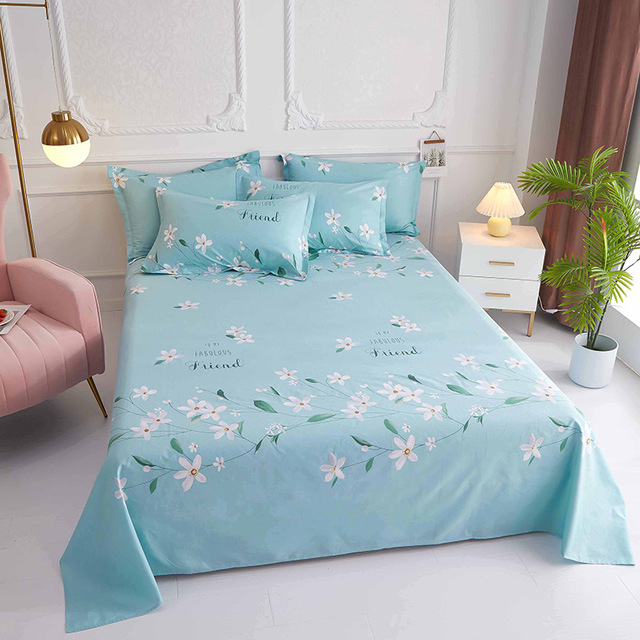 A single piece of cotton bed linen, 200x230cm bedding, student dormitory bunk beds, cotton bed sheet