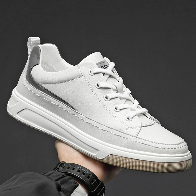 Men's shoes spring 2021 new shoes casual leather shoes leather men Korean trend all-match board sho