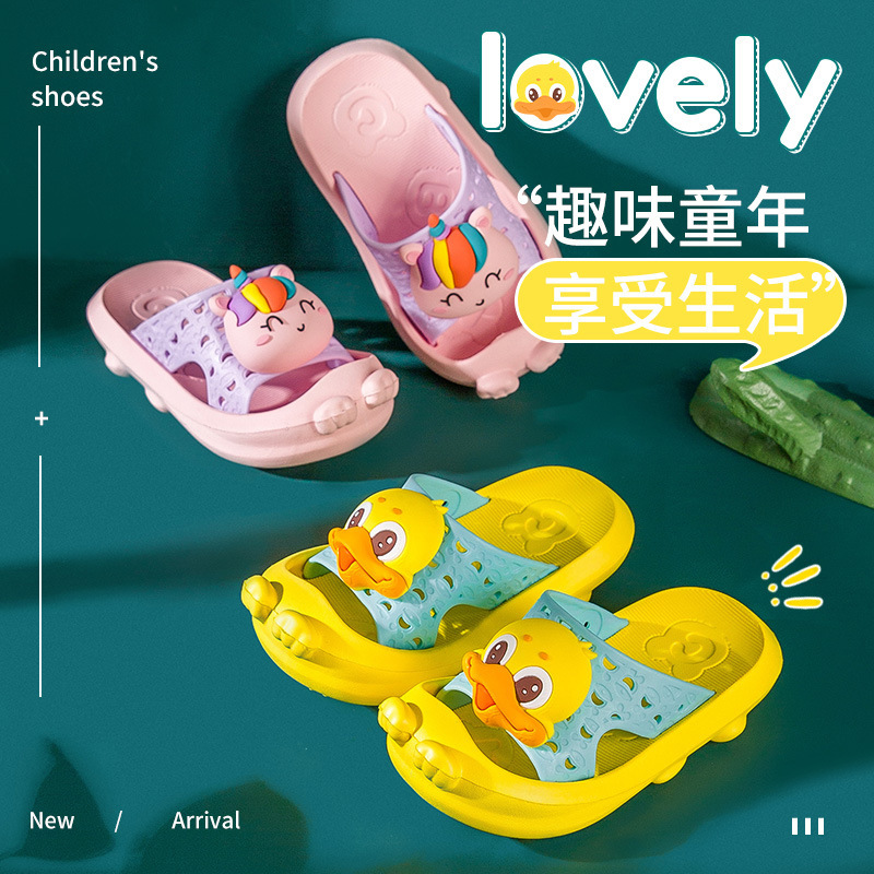 Fawn Mili children's slippers summer new home breathable cartoon children's infant baby sandals an