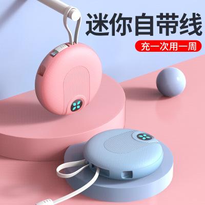 WANHENGTONG Pin sạc dự bị Sáng tạo mini nhỏ gọn hình tròn ngân hàng điện di động di động siêu mỏng d
