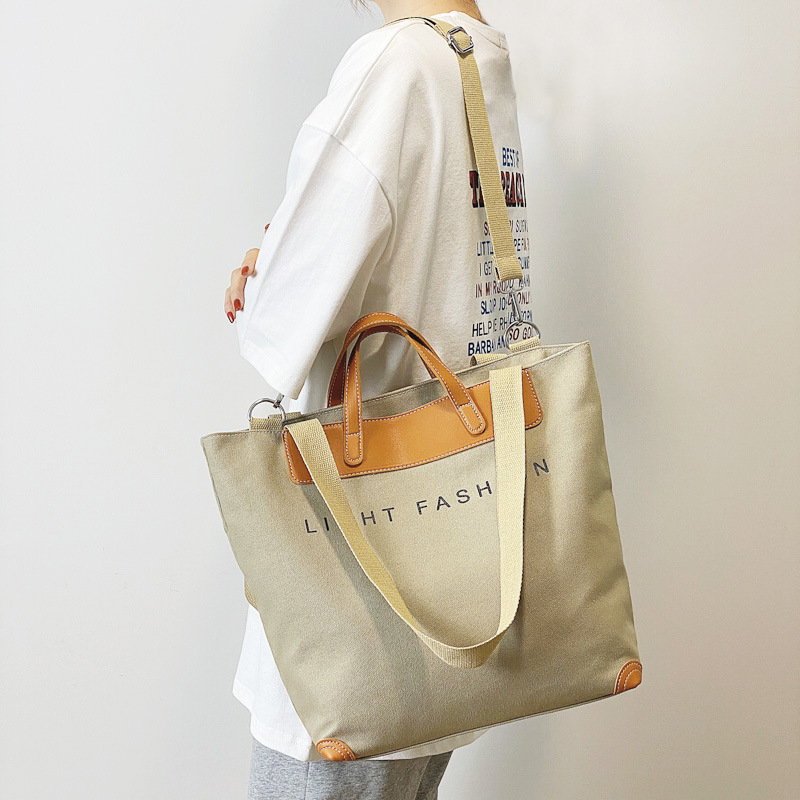 Bag handbags new 2021 Japanese fashion one-shoulder canvas bag messenger bag female large-capacity t