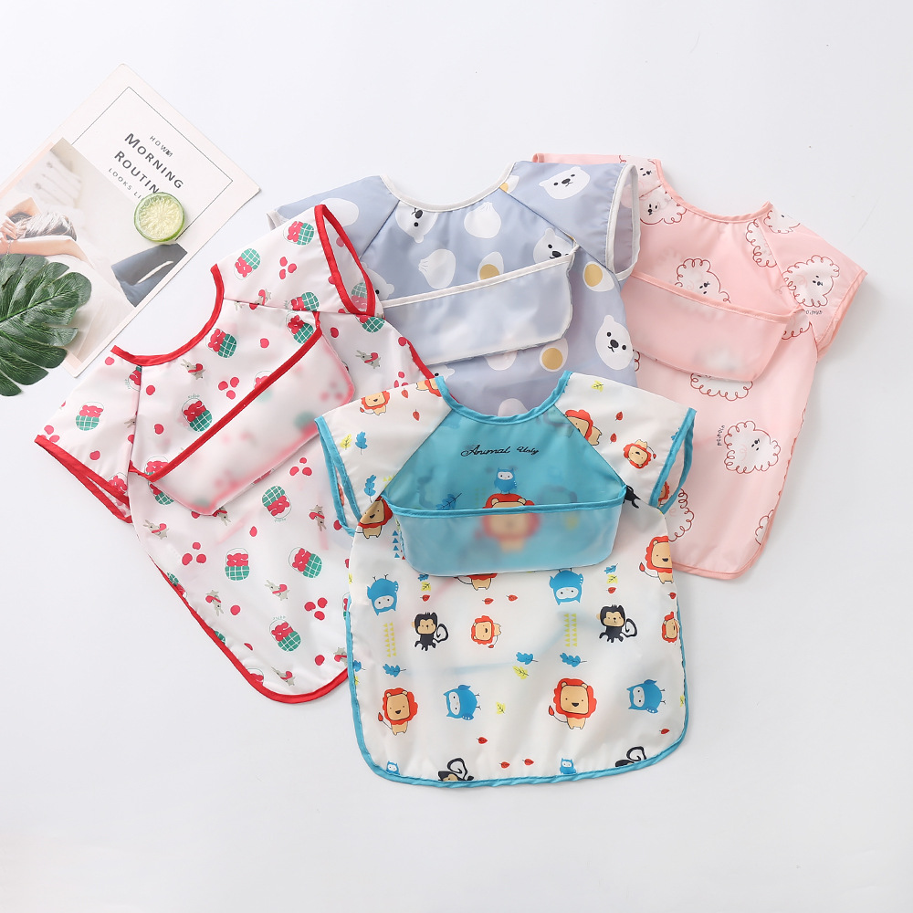 Summer light overalls, children's sleeveless anti-wearing clothes, baby waterproof and anti-dirty p