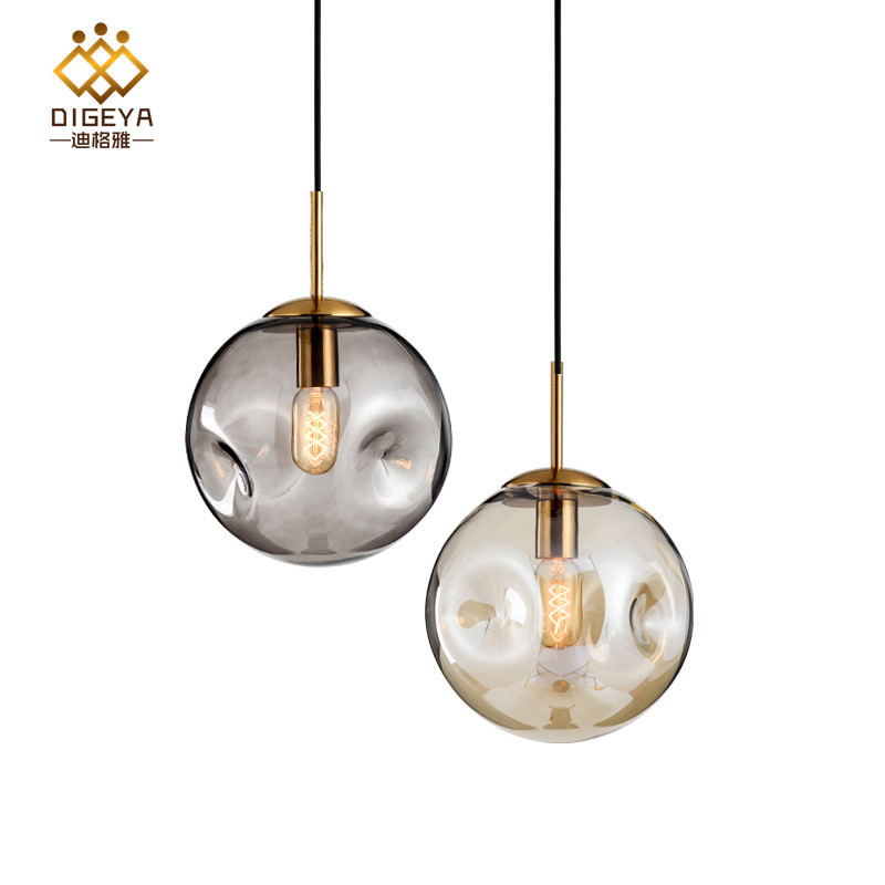 DIGEYA New Nordic postmodern light luxury concave-convex glass ball chandelier Creative art dining r