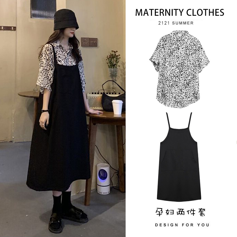 Pregnant women spring and summer dresses, tops, women's foreign style, maternity clothes, new year