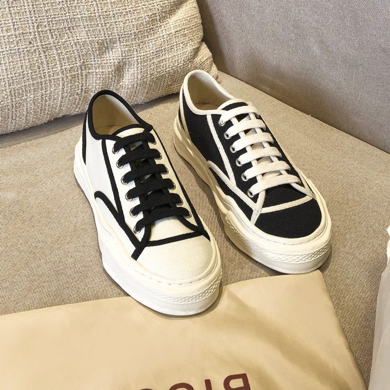 Xiaoxiangfeng single shoes female 2021 spring canvas shoes thick-soled casual board shoes white shoe