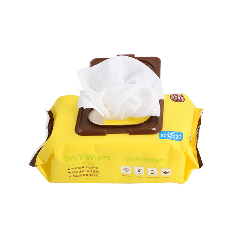 Cotton Wings Nursing Wipes 80 Pieces Free 20 Pieces Pure Water Sponge Wipes Hand & Mouth Wipes Baby