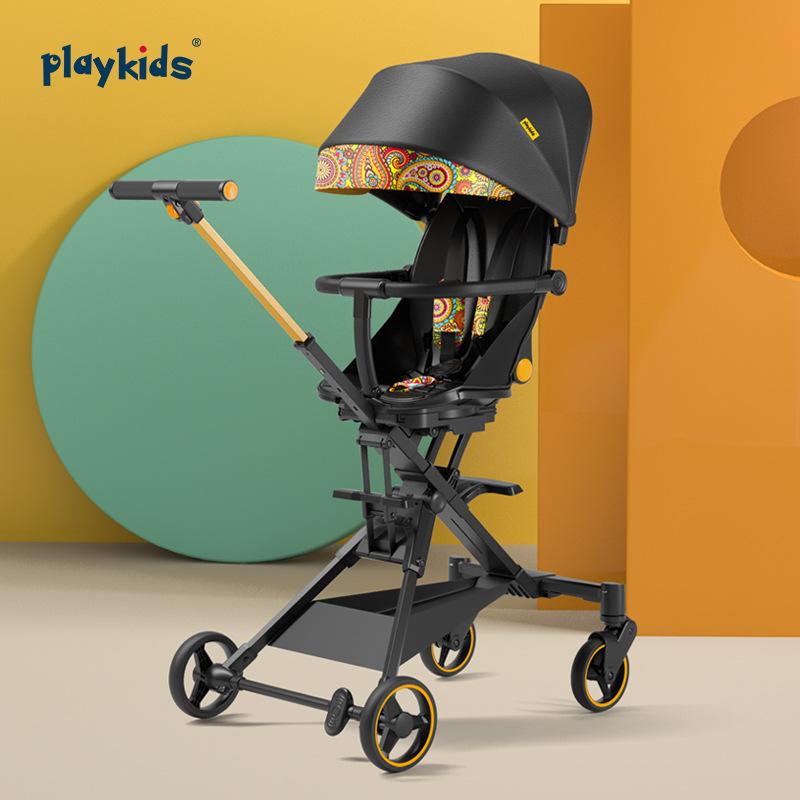Xe đẩy em bé cầm tay Playkids xe đẩy bé đi dạo có thể gấp gọn .