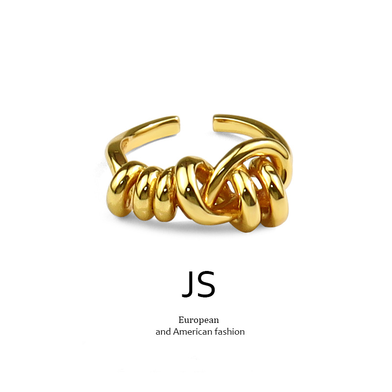 European and American fashion jewelry creative fashion irregular gold adjustable ring girls luxury