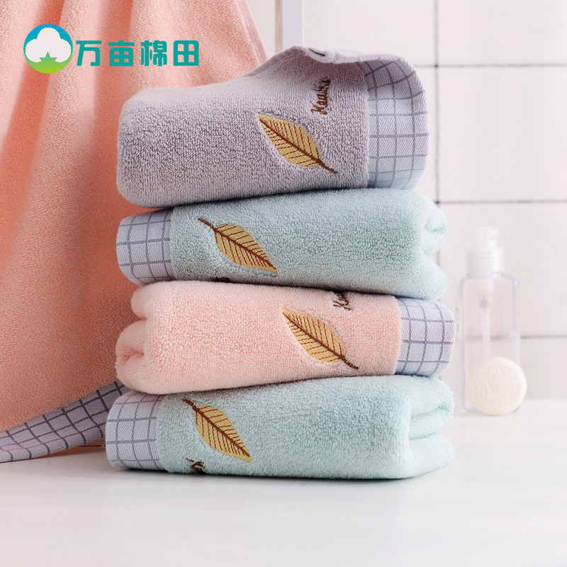 New style pure cotton towel, embroidery face towel, household men and women soft absorbent facial wa