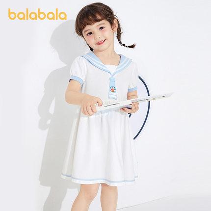 Đầm váy trẻ em Đôrêmon IP] Quần áo trẻ em Balabala Cô gái Váy trẻ em Mùa hè 2021 Váy trẻ em mới