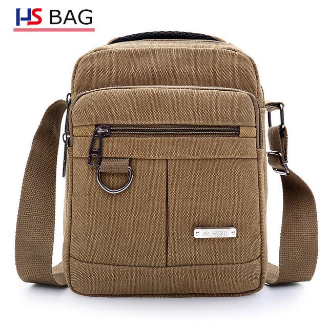 Canvas shoulder bag men's new Korean canvas messenger bag outdoor leisure travel portable shoulder