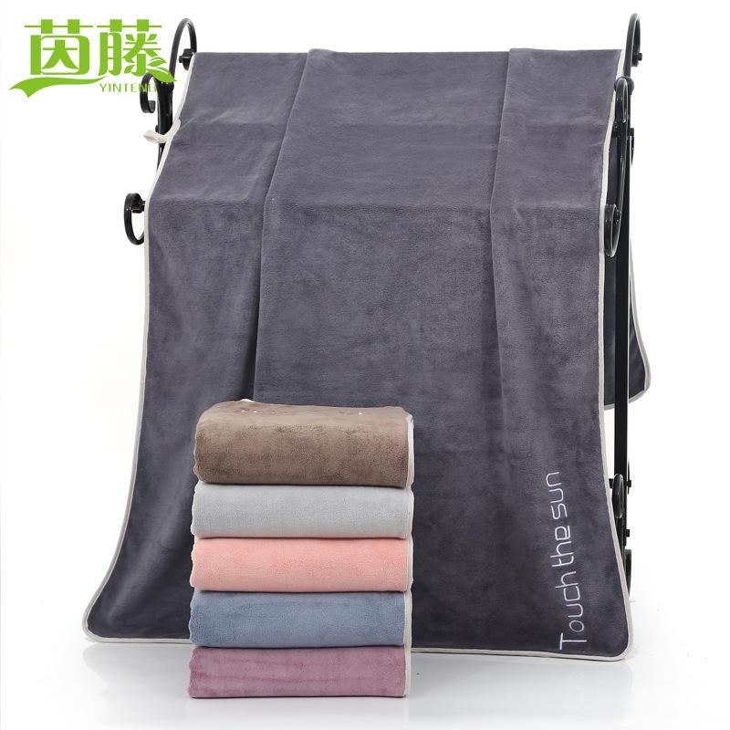 YINTENG 70*140 thin fiber thick bath towel unisex couple beach towel