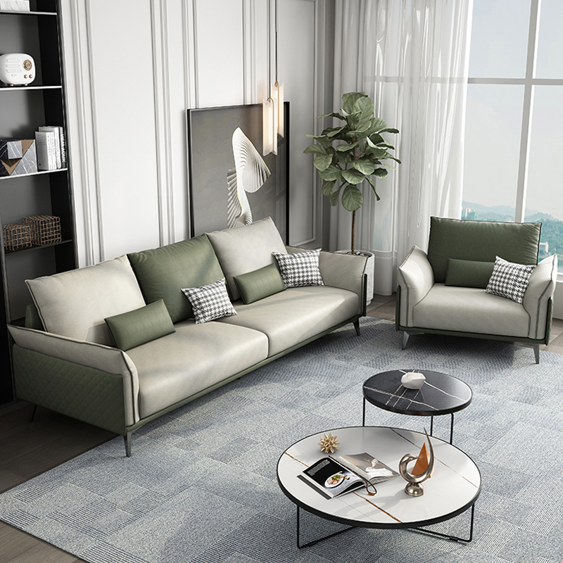 Italian minimalist fabric sofa modern minimalist three-seat technology cloth size apartment living r