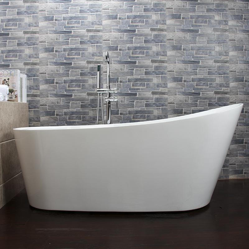 FAYULAN Acrylic bathtub hotel adult household engineering bathtub double-layer thermal insulation Ja
