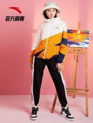 Quần áo leo núi  Áo khoác thể thao Anta của phụ nữ năm 2021 mùa xuân và mùa thu áo khoác có mũ trùm