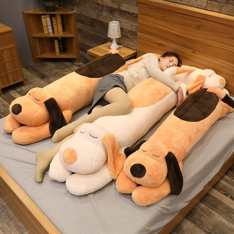 Papa dog doll rag doll cute plush toy factory pinch legs to accompany sleeping long pillow bed large