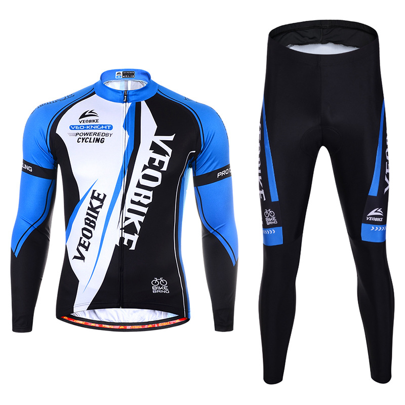 Veobike VB men's long-sleeved cycling jersey suit spot wholesale moisture wicking spring and autumn