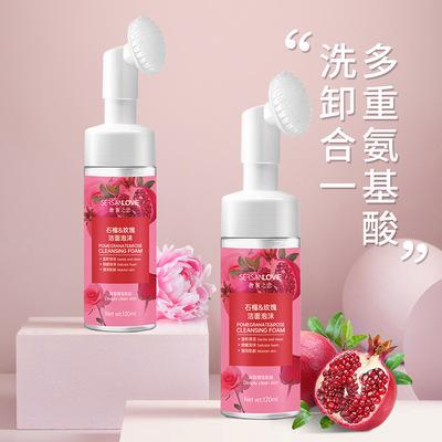 SERSANLOVE Sữa rửa mặt Spot Amino Acid Pomegranate Rose Cleansing Mousse Gentle Moisturizing Foam Là