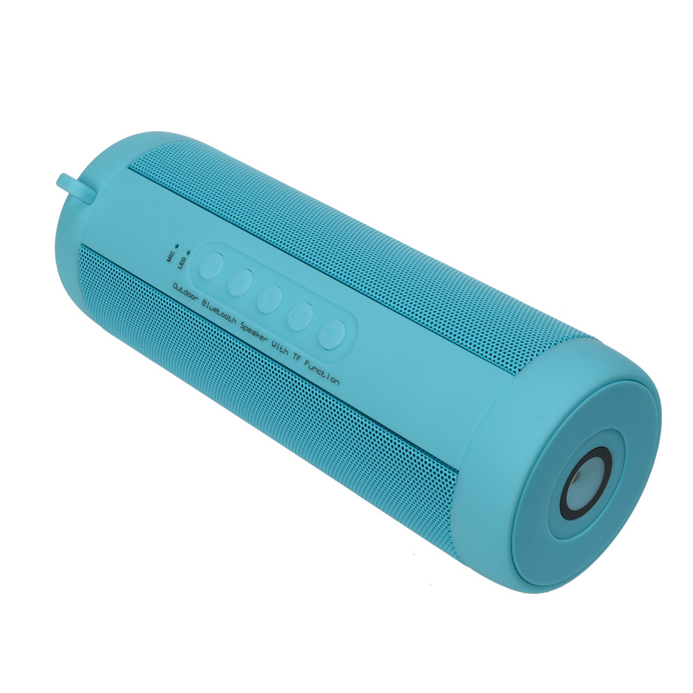 Explosive T2 Cylindrical Waterproof Bluetooth Speaker Outdoor Sports Wireless Bluetooth Bicycle Blue