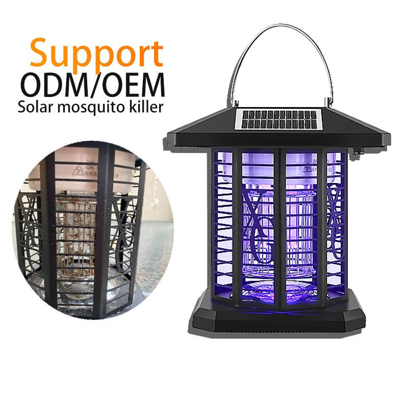 PITTRA New solar mosquito killer lamp outdoor waterproof courtyard garden electric shock type mosqui