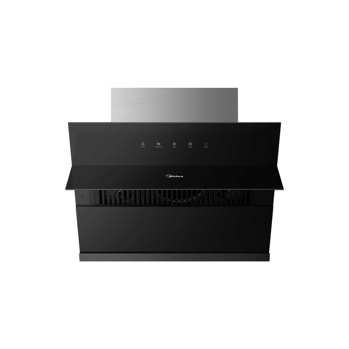 Midea range hood 19m suction 700 small size, one-button opening and closing smart dry cleaning CXW-2
