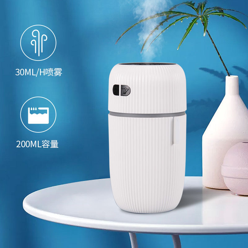 2021 new air purifier white noise humidifier USB car spray humidification