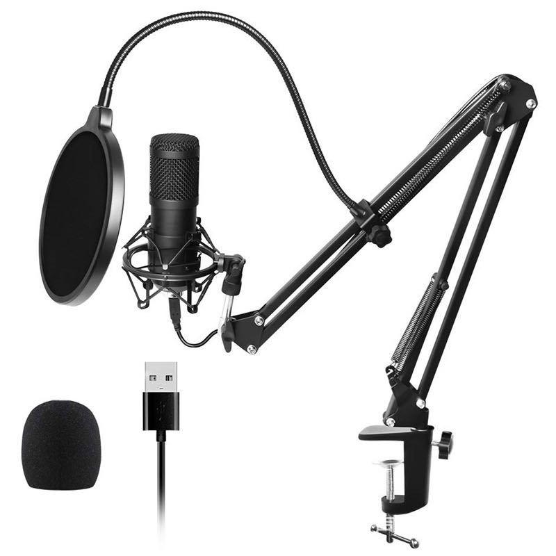 USB microphone 192KHz/24Bit high sampling rate computer condenser microphone recording set