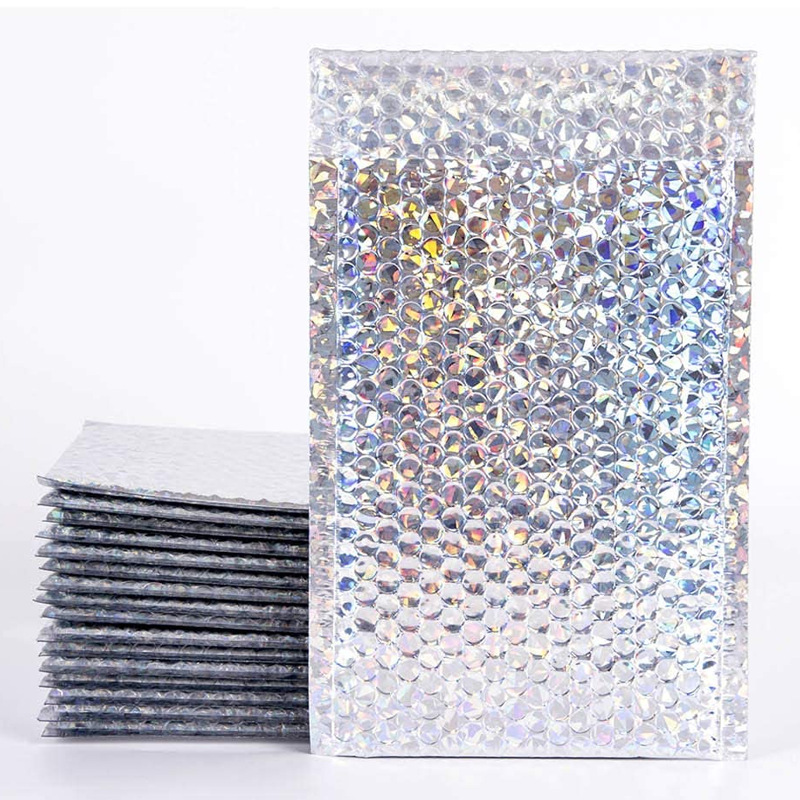 Laser film bubble bag color courier packing bag aluminized envelope bag clothing foam bag