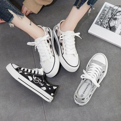 giày vải giày vải lưới thoáng khí nữ 2021 mùa hè mới sinh viên giày đáy bằng giản dị giày trắng nữ W