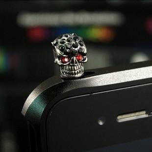 Nút cắm chống bụi Phim hoạt hình đầu lâu cắm điện thoại bụi cắm bụi kim loại Halloween quà tặng bụi