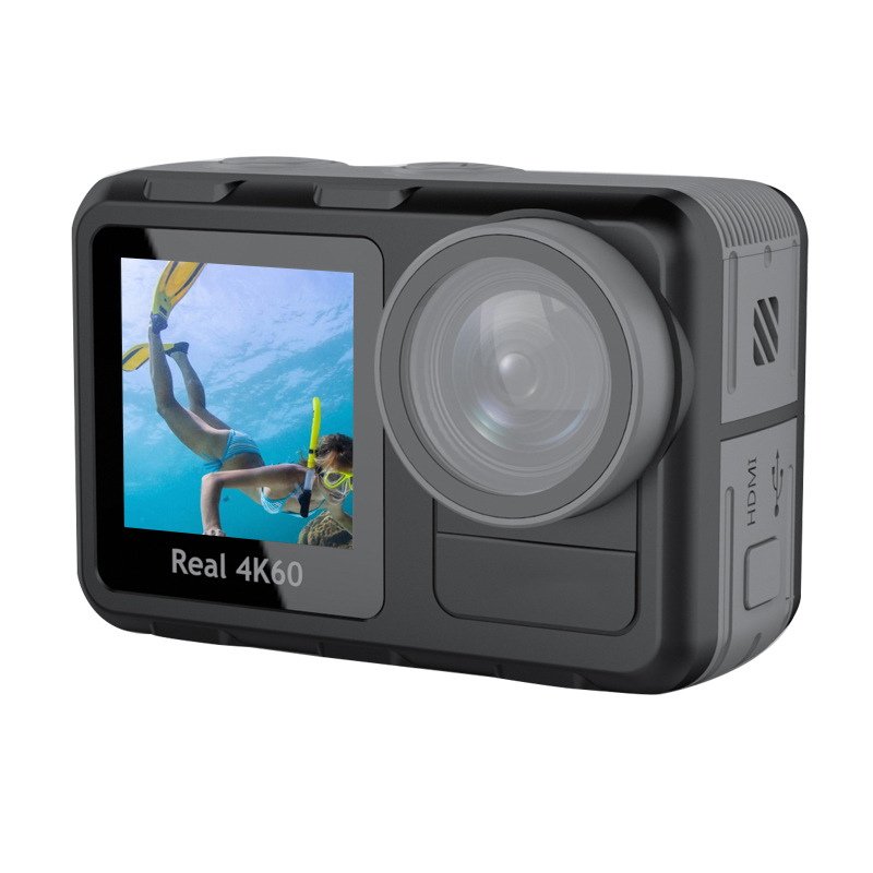 BAOPAI New real 4K60 frame outdoor sports camera WIFI dual screen bare metal sports DV anti-shake di
