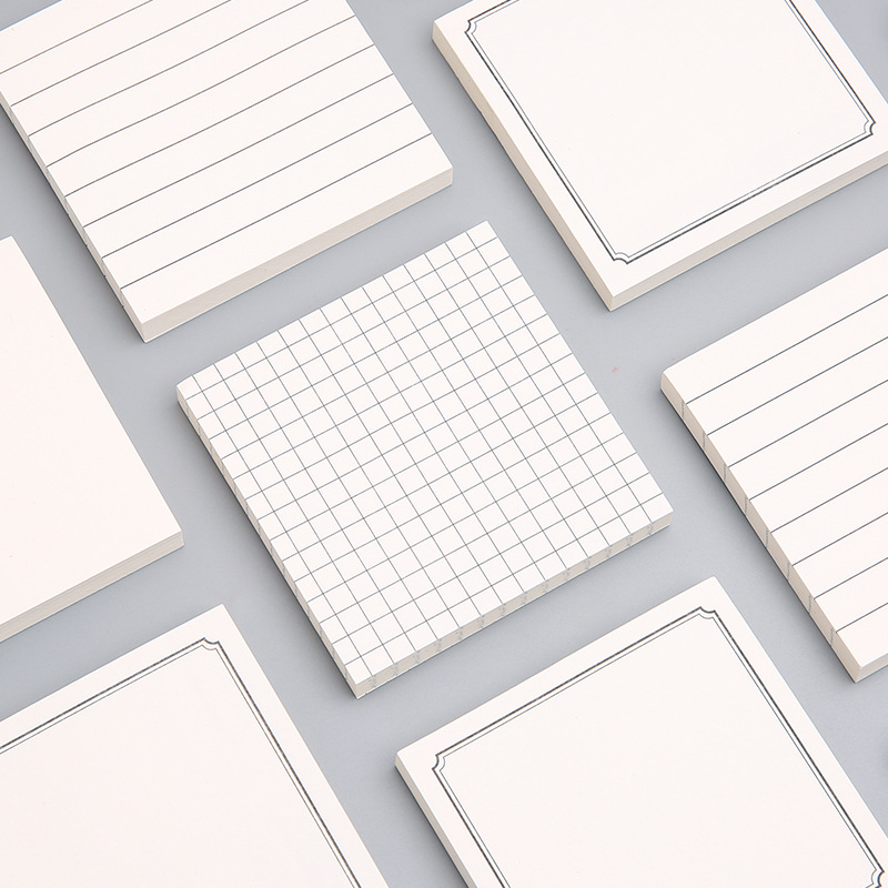 MOYL Small fresh, simple and convenient stickers, strong sticky square line notes, can tear off mess