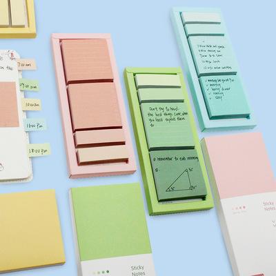 Giấy note Nhà máy bán buôn giấy ghi chú, đóng hộp sáng tạo đường ngang màu nhãn dán n-time, ghi chú