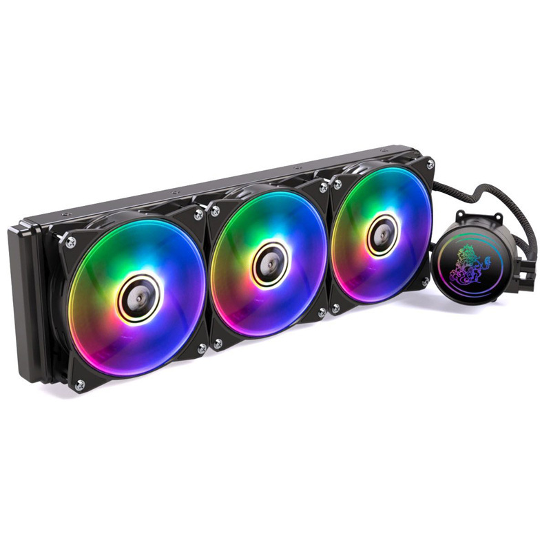 RGB360 integrated hard tube water cooling fan desktop computer case radiator PWM temperature control