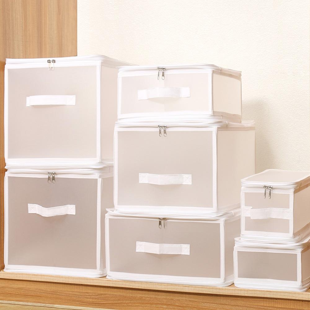 pp plastic storage box, waterproof and dustproof foldable quilt storage box, wardrobe clothing class