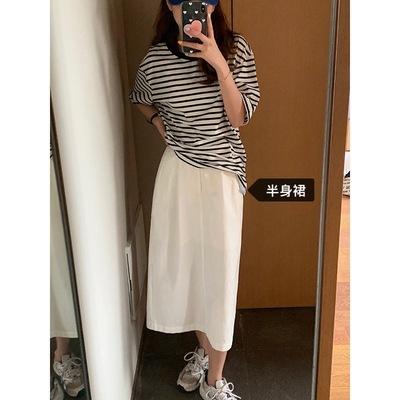 hooozen váy Huang Zheng rắn màu lưng váy lọt khe nữ 2021 mùa hè phong cách Hàn Quốc cạp cao ống thẳn