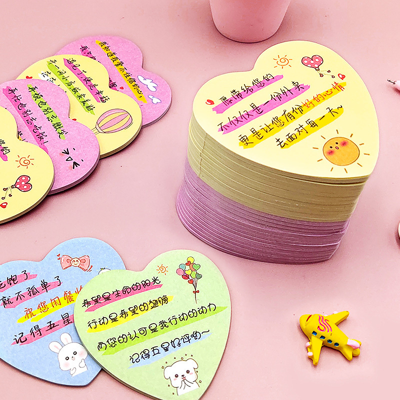 Creative Painted Memo Paper Takeaway Quotes Memo Memo Praise Thickened Post-it Notes