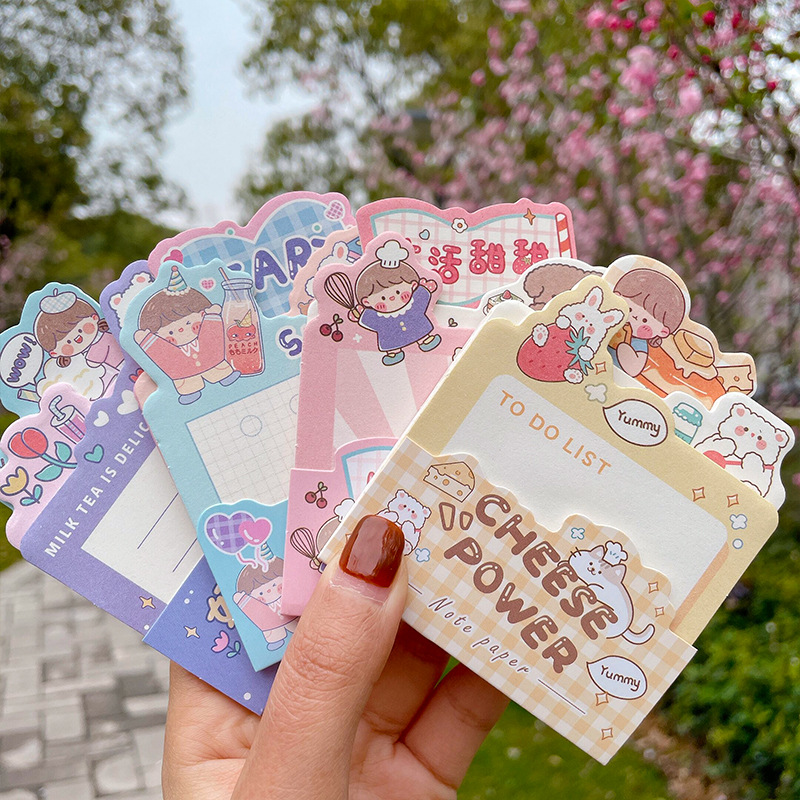 Cute cartoon alien layered note student non-sticky note paper student girl heart net celebrity note