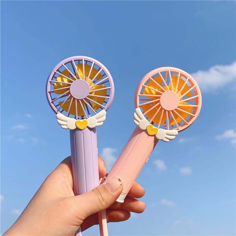 Little cute girl summer outfit Sakura pocket mini fan usb charging portable cute compact fan