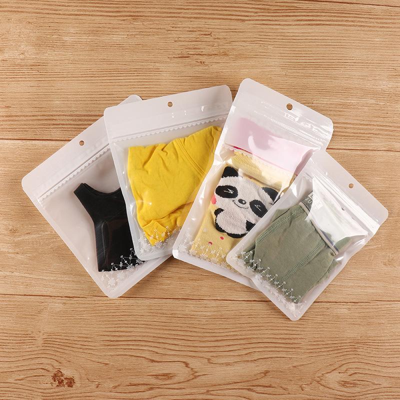 Baby underwear packaging bag socks ziplock bag mask plastic sealed bag jewelry bib packaging bag cus