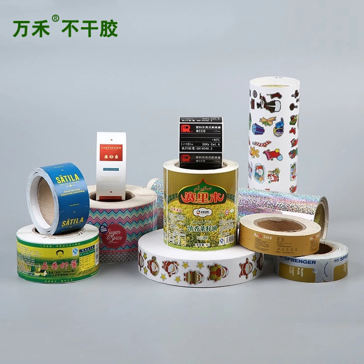 pvc self-adhesive sticker printing roll synthetic self-adhesive transparent anti-counterfeiting self