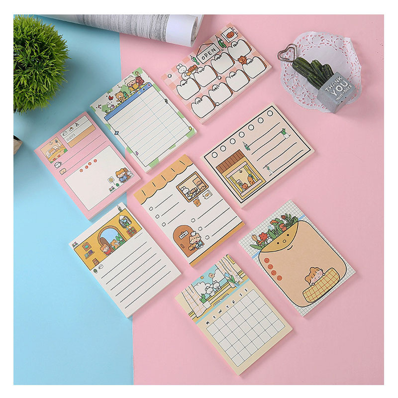 Korean stationery creative memo pads wholesale exquisite and convenient message paper Zhuo Xiaowang