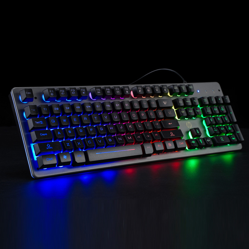 HP KG10 gaming mechanical single keyboard USB computer desktop notebook universal gaming keyboard