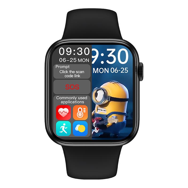 1.72 inch HW16 Bluetooth Smart Call Watch 3D Dynamic Dial Heart Rate and Blood Pressure Metre HW12 U