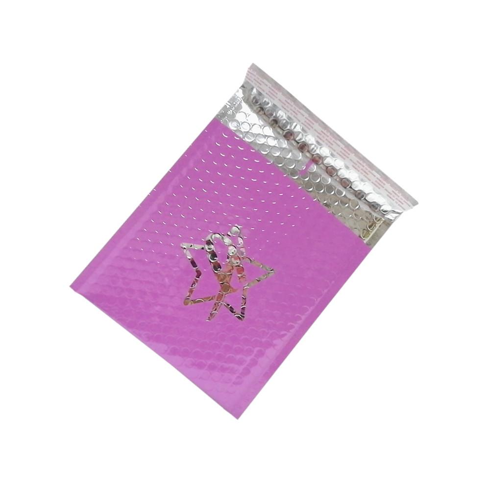 Túi bong bóng phim màu tím Aluminized túi niêm phong chống sốc .